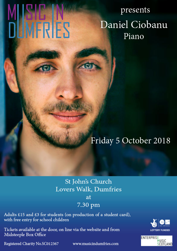 Daniel Ciobanu, Piano - Friday 5 October 2018