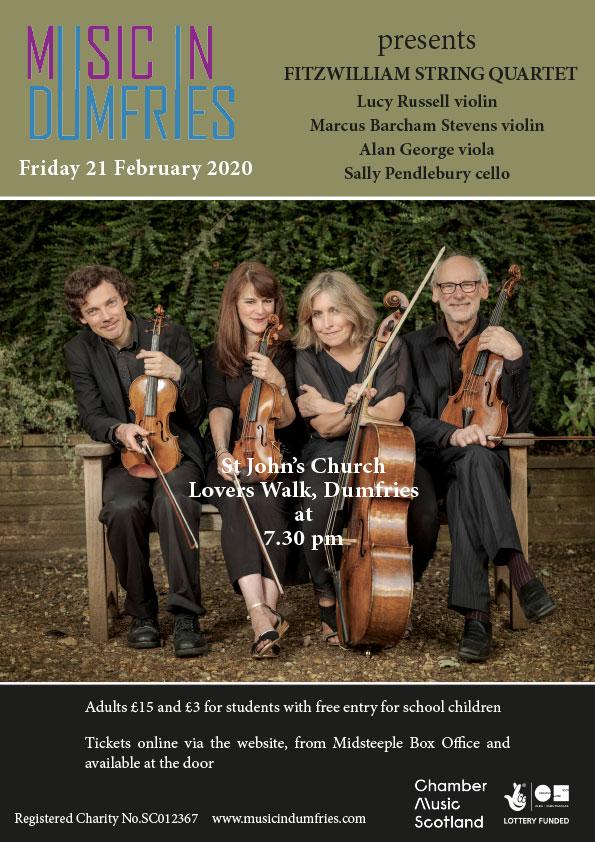 Fitzwilliam String Quartet - February 2020