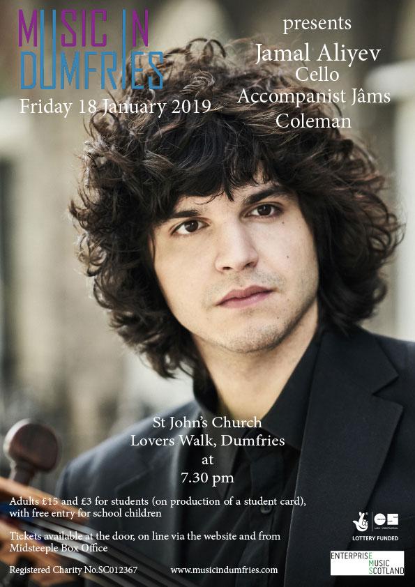 Jamal Aliyev, Cello - Friday 18 January 2019