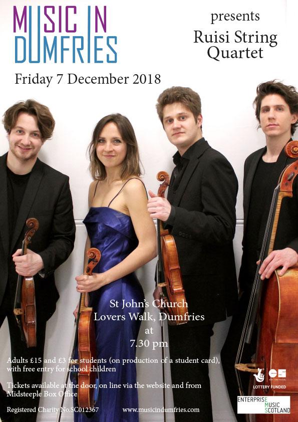 Ruisi String Quartet - Friday 7 December 2018
